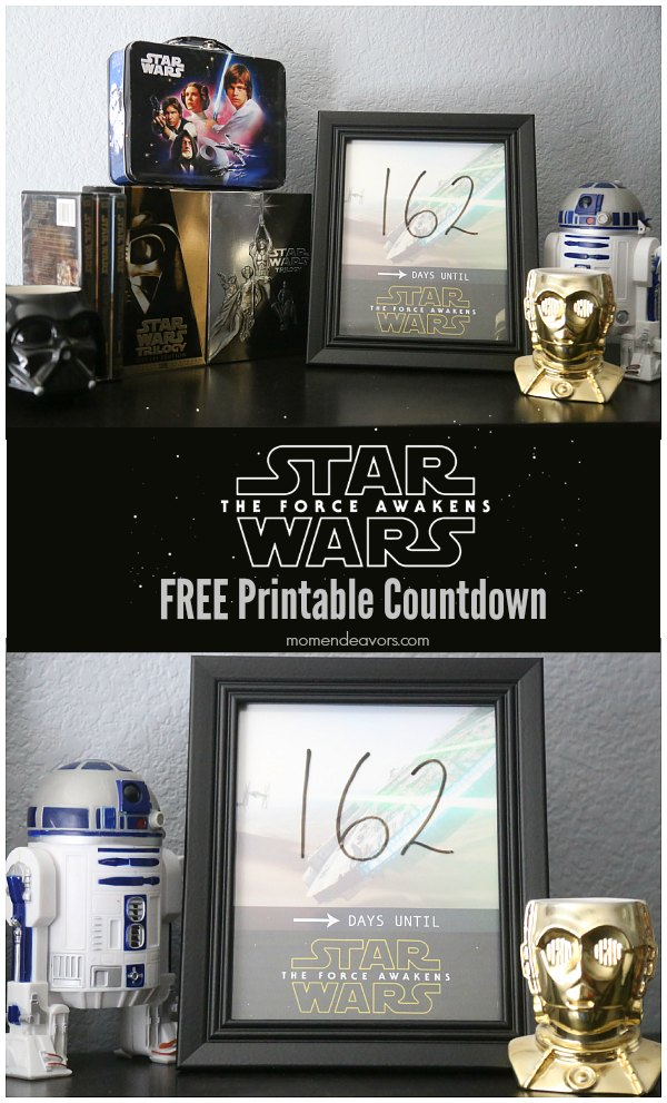 Star Wars The Force Awakens Free Printable Countdown