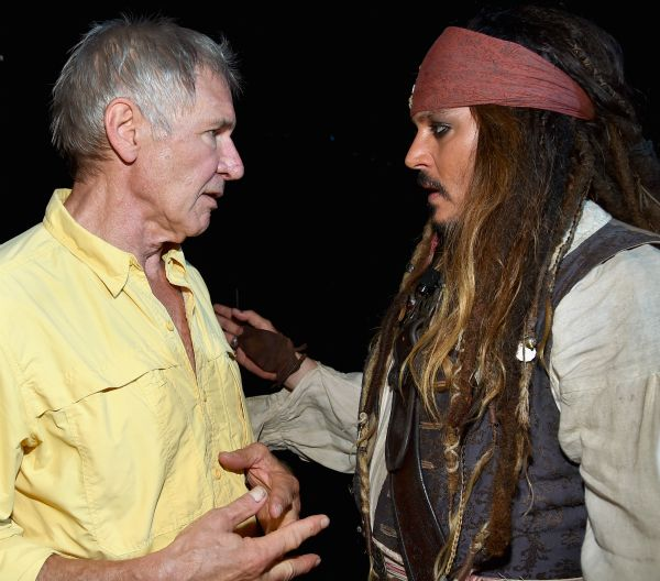 Harrison Ford and Johnny Depp