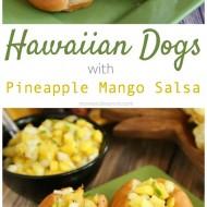 Hawaiian Hot Dogs with Grilled Pineapple Mango Salsa