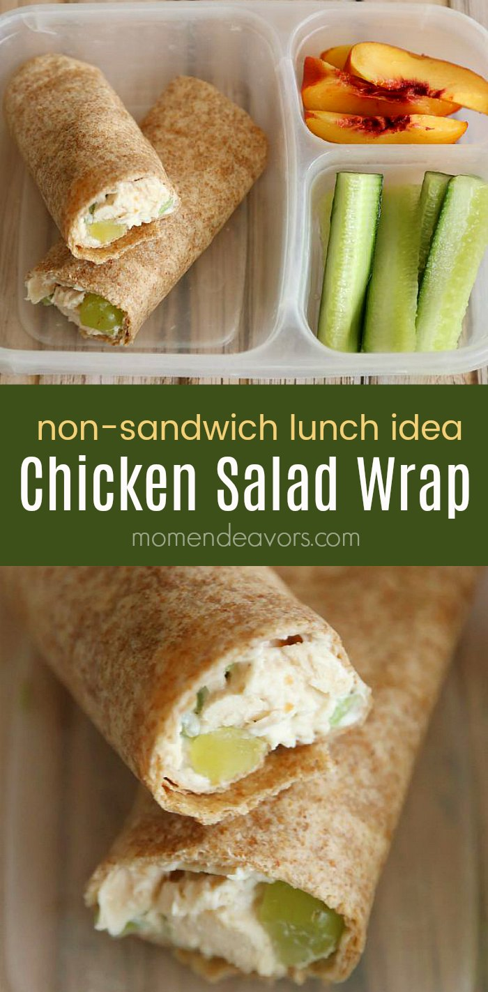 Chicken Salad Wrap Lunch Idea