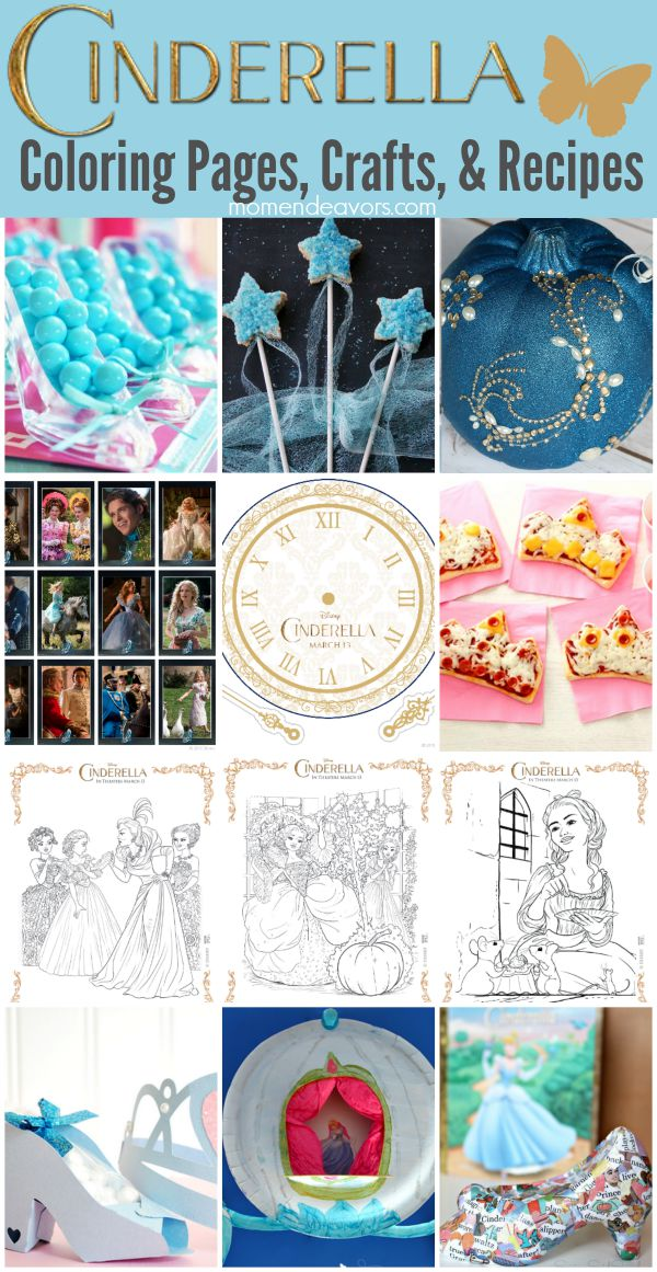 Cinderella Coloring Pages, Crafts & Recipes
