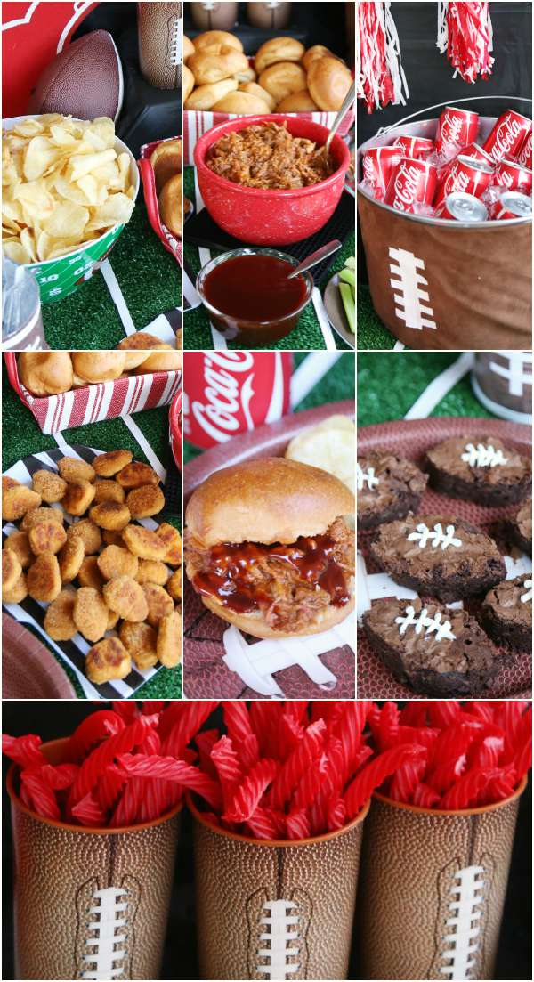 Football party easy food decor ideas for Easy food ideas for parties