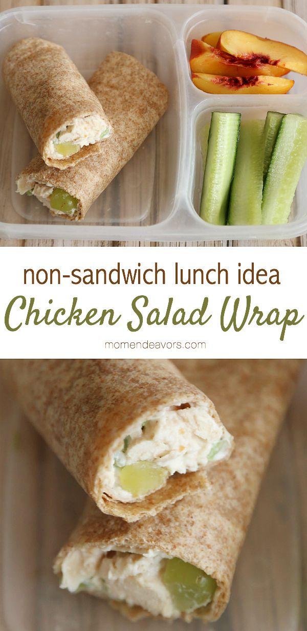 Non Sandwich School Lunch Idea Chicken Salad Wraps