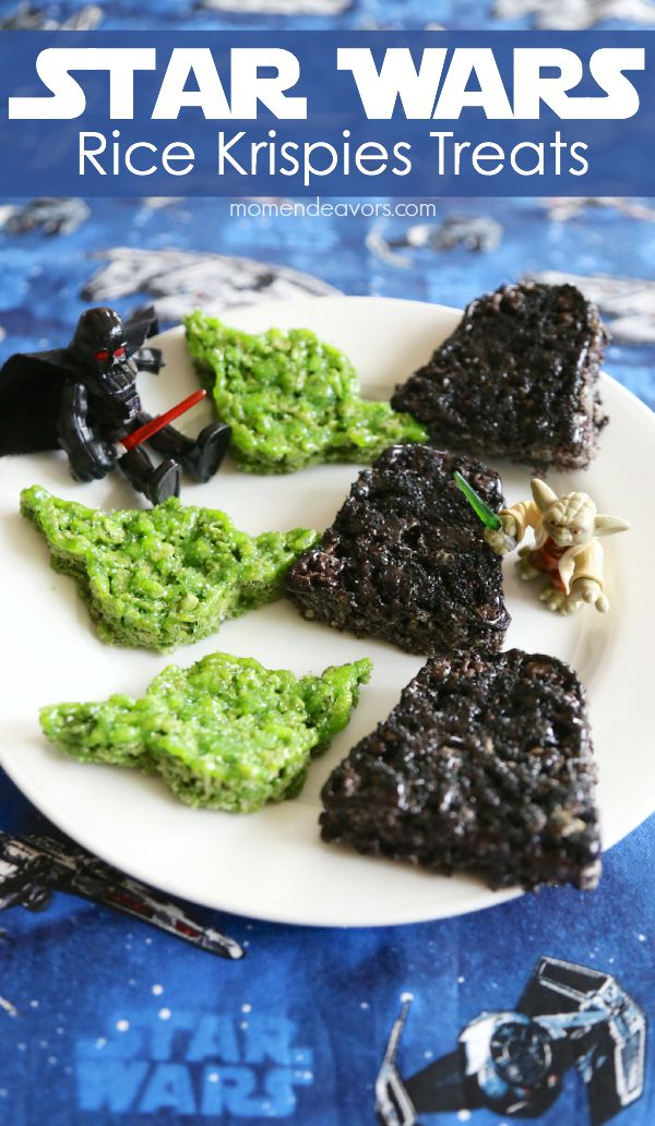 Star Wars Rice Krispies | http://homemaderecipes.com/entertaining/parties-gatherings/11-star-wars-food-ideas/