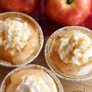 Mini No-Bake Caramel Apple Cheesecakes