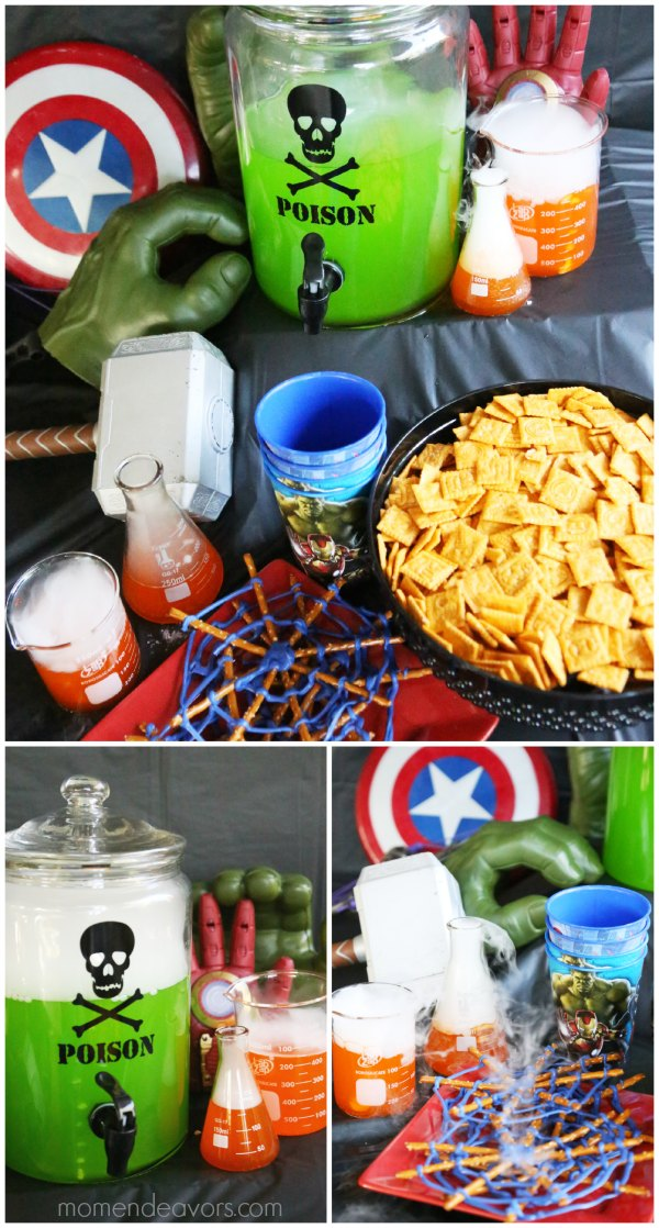Avengers Science Lab Party Food