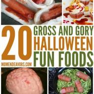 20+ Gross and Gory Halloween Fun Foods