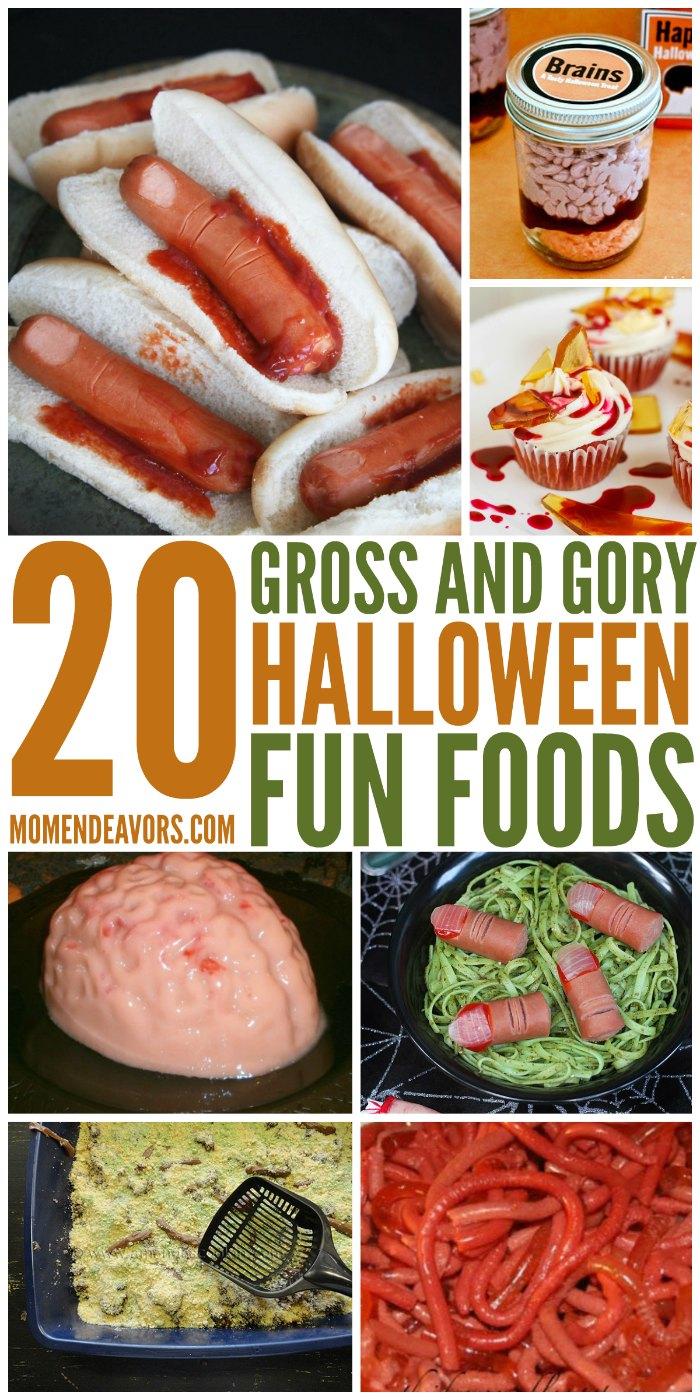 Gross Gory Halloween Fun Foods