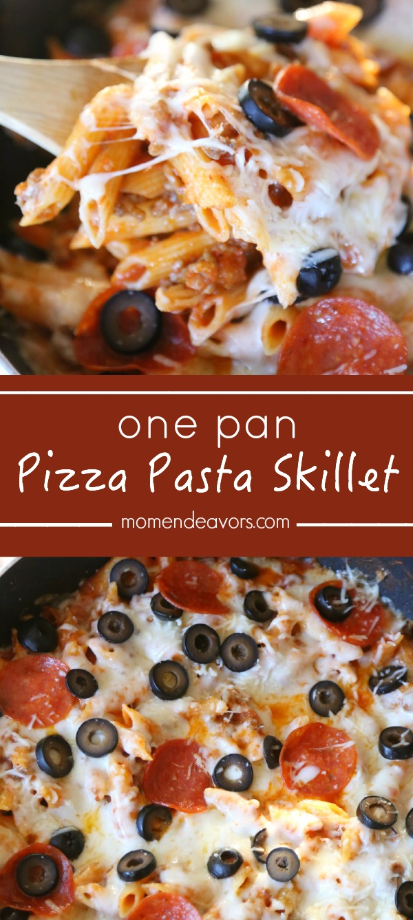 One Pan Pizza Pasta Casserole