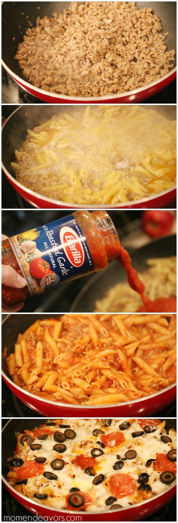 One Pot Pizza Pasta Bake