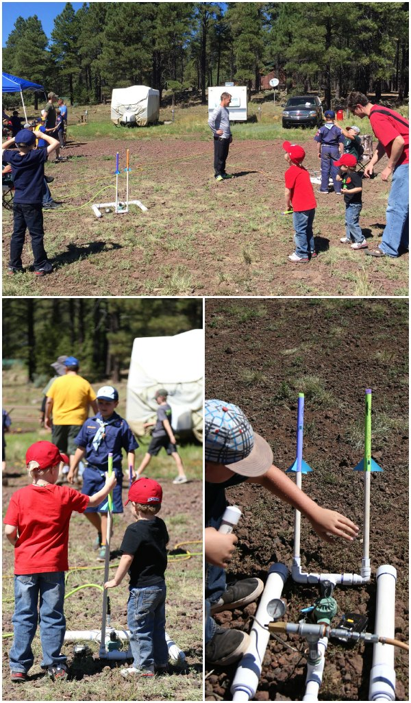 Shooting paper rockets