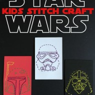 Star Wars Stitch Craft for Kids (with free printable templates)