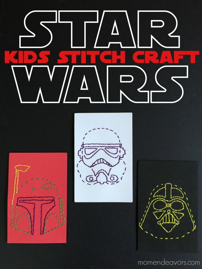 star wars stitch craft for kids  with free printable