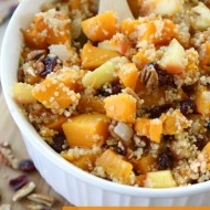 Butternut Apple Cranberry Quinoa Salad