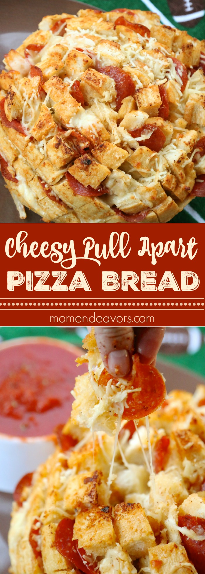 Cheesy Pizza Pull Apart Garlic Bread