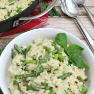 One Pan Dish – Creamy Asparagus Rice