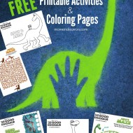 Disney-Pixar The Good Dinosaur Printable Activities & Coloring Sheets