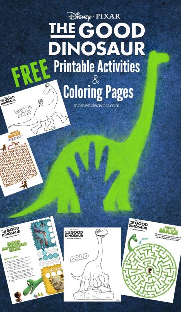 Disney Pixar The Good Dinosaur Printable Activities