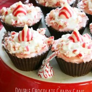 Dark Chocolate Peppermint No-Bake Mini Cheesecakes