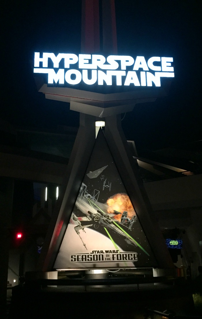 Hyperspace Mountain Disneyland