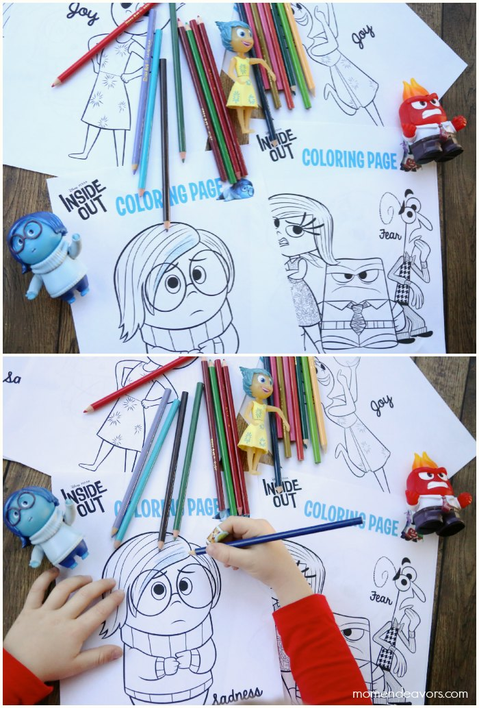 Inside Out Party Printables Coloring Pages