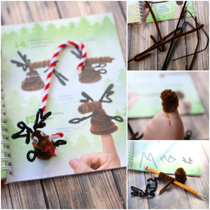 Making a reindeer finger puppet