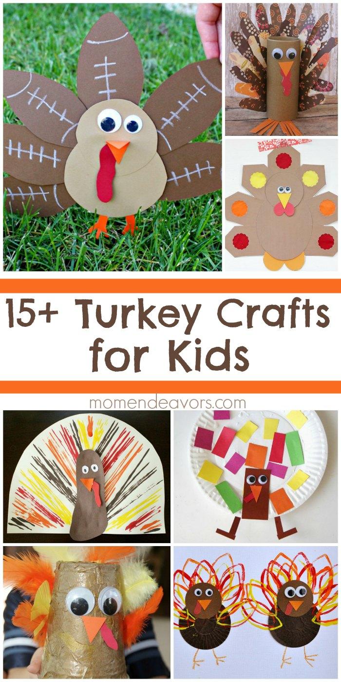 15 adorable turkey crafts for kids for Thanksgiving crafts for infants