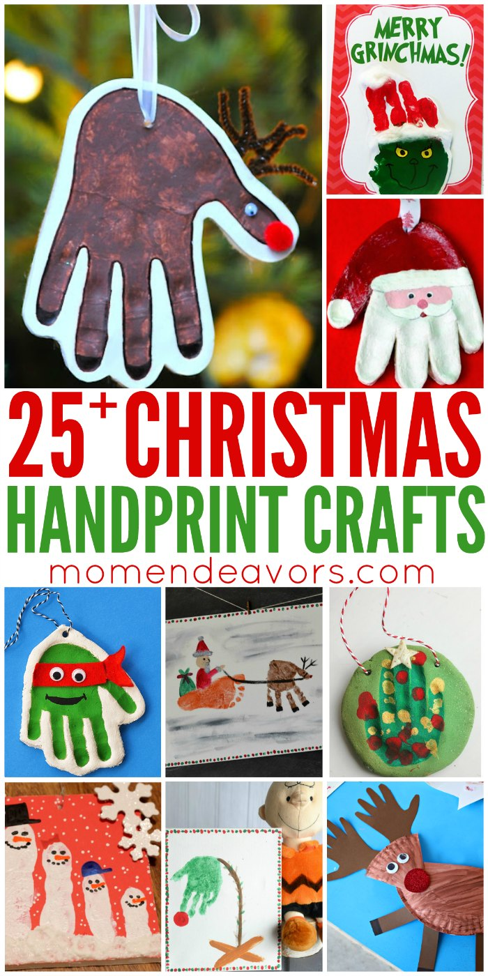25+ Christmas Handprint Crafts