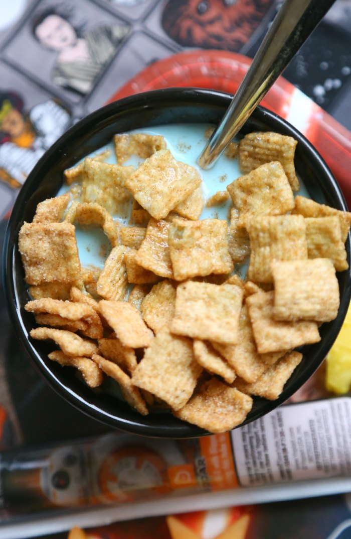 Cereal with Blue Milk