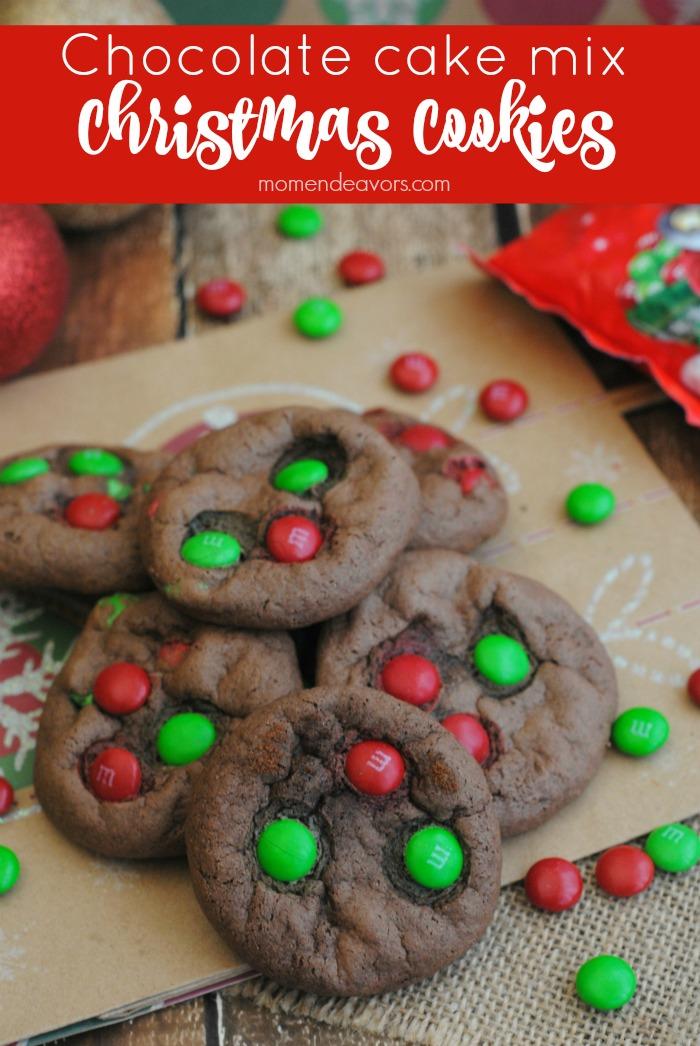 Chocolate Cake Mix Christmas Cookies