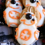 DIY No-Bake Star Wars BB-8 Cookies
