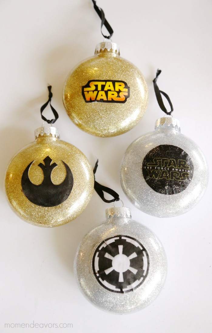 DIY Glitter Star Wars Ornaments