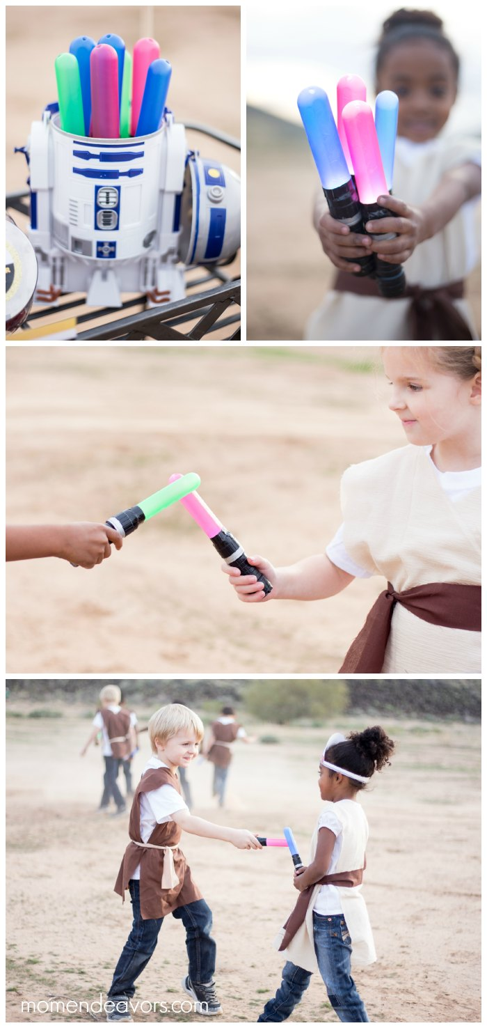 DIY Lightsaber Party Favors