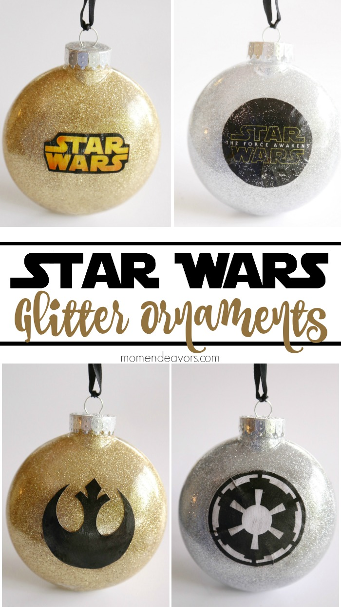 DIY Star Wars Glitter Ornaments