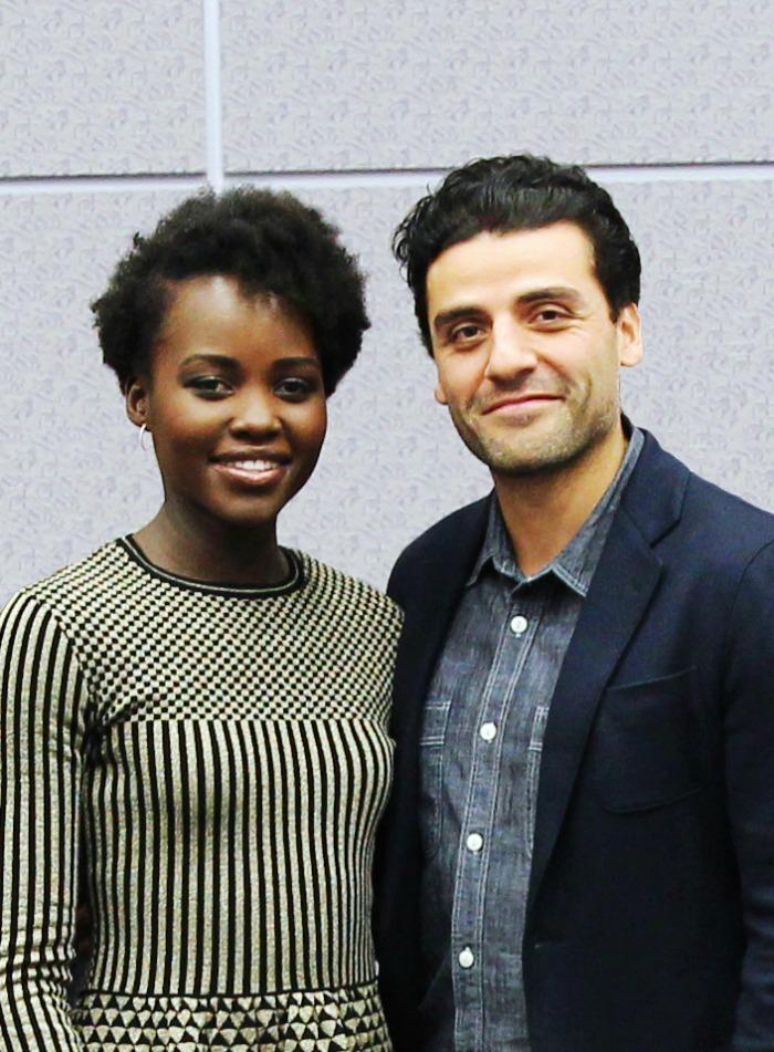 Lupita Nyongo and Oscar Isaac Star Wars
