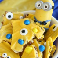Minions Movie Easy Pretzel Bark