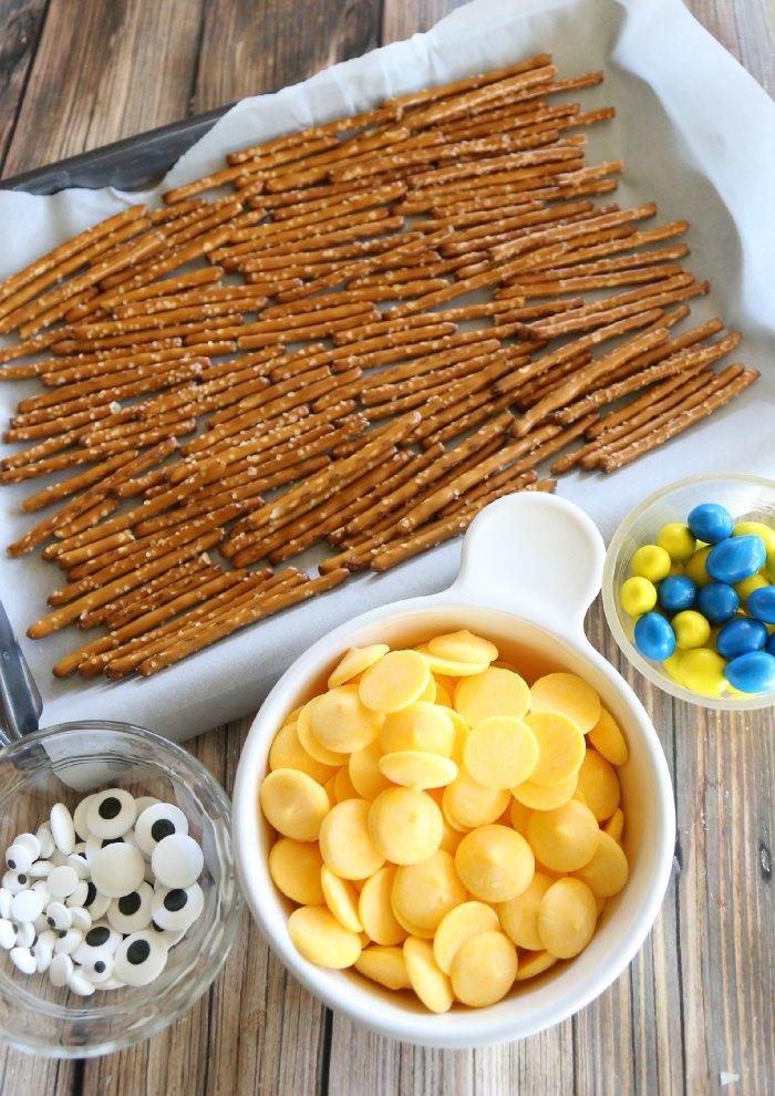 Minions Pretzel Bark Ingredients