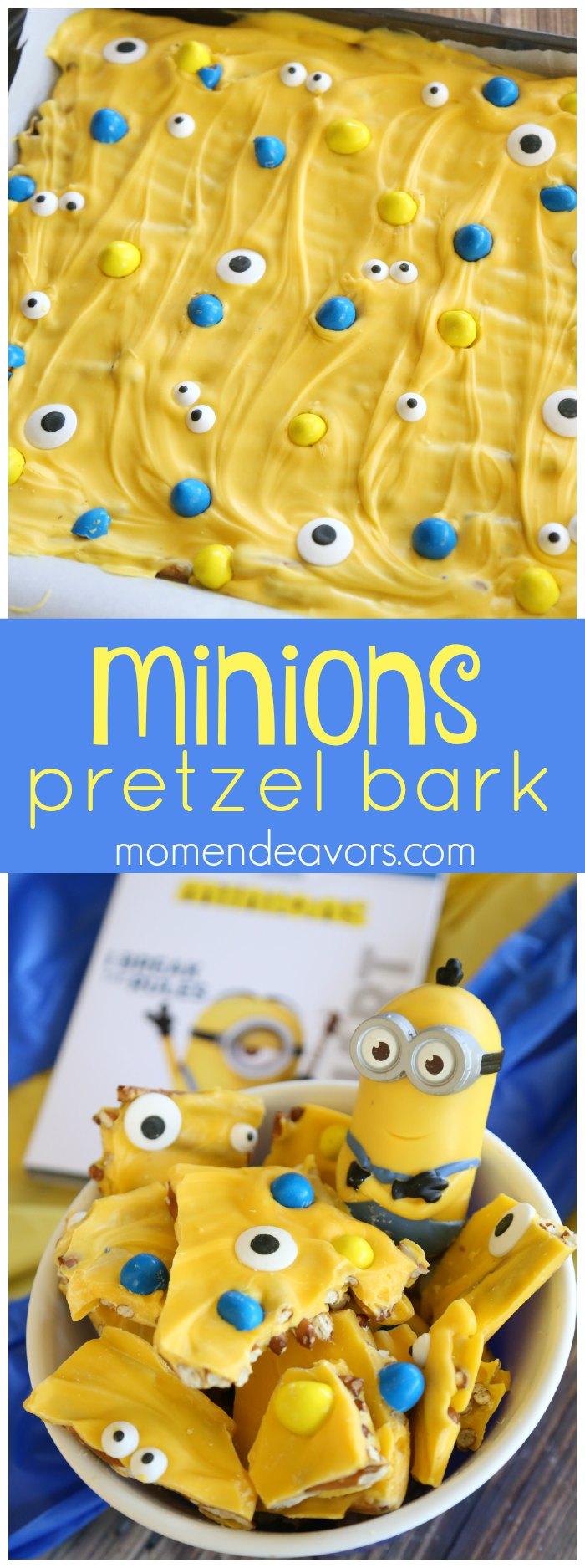 Minions Pretzel Bark
