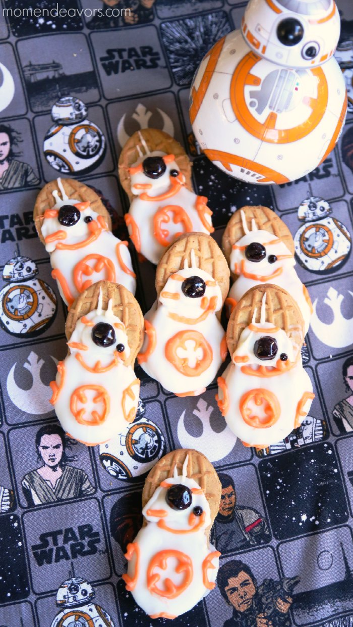 No-Bake Star Wars BB-8 Cookies