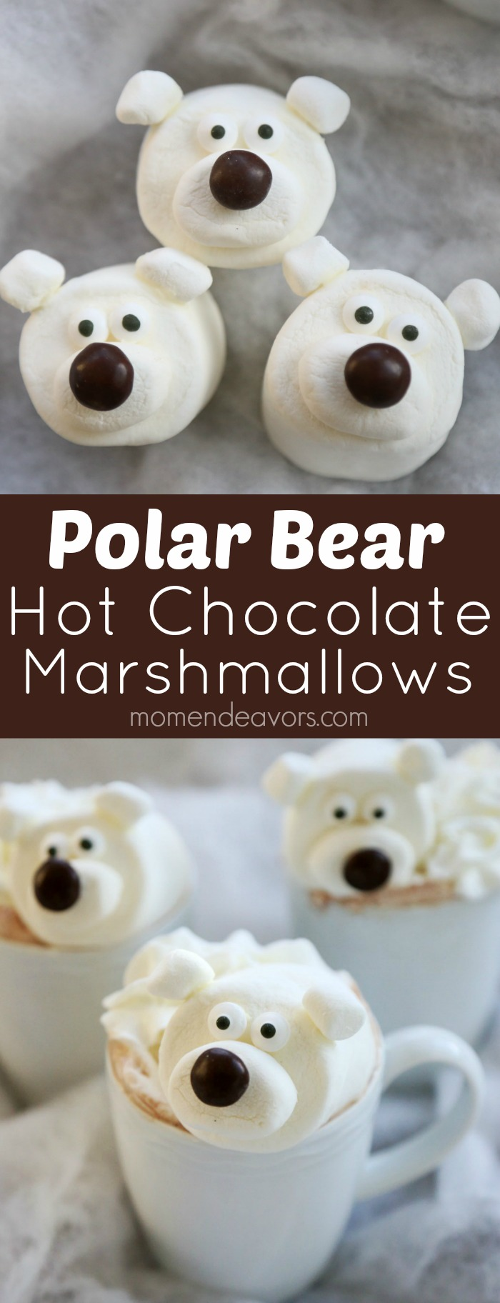 Polar Bear Hot Chocolate Marshmallows