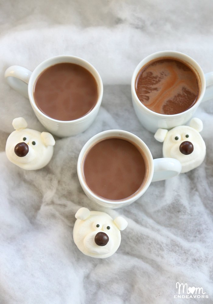 Polar Bear Marshmallows for Hot Chocolate