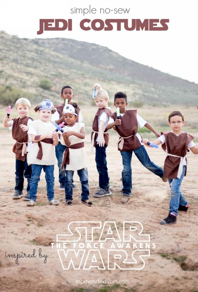 Simple No Sew Star Wars Jedi Tunic Costumes Mom Endeavors