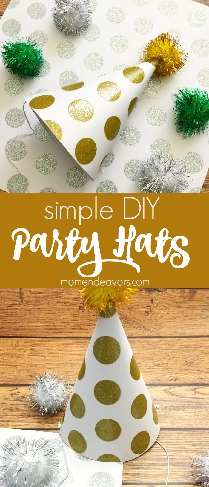 Simple DIY Party Hats