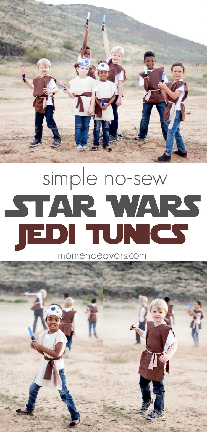 Simple No-Sew Star Wars Jedi Tunics