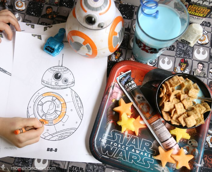 Star Wars Breakfast & Coloring Pages