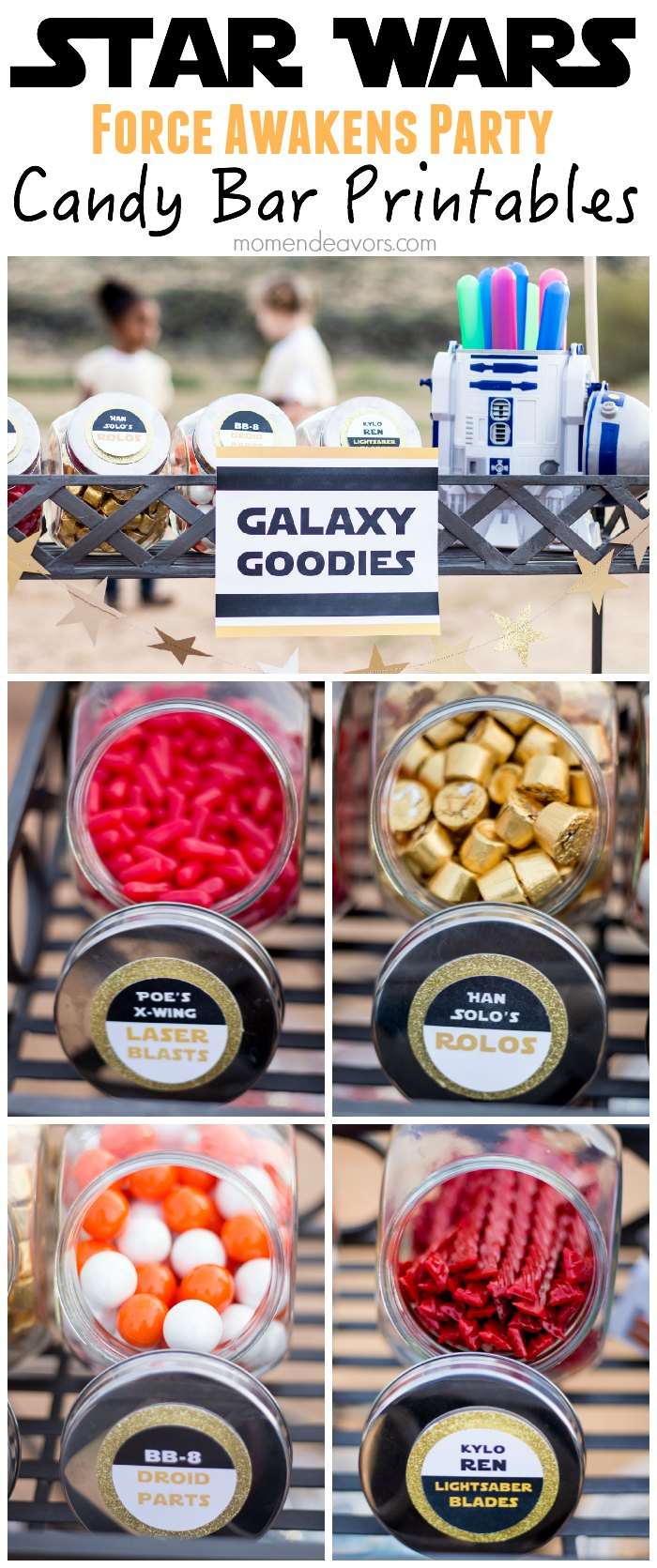 Star Wars Force Awakens Party Candy Bar Printables