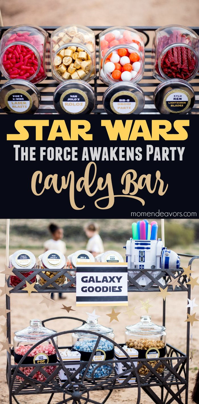 Star Wars Force Awakens Party Candy Bar