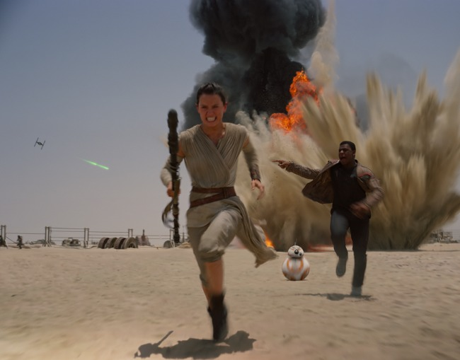 Star Wars Force Awakens Real Explosions