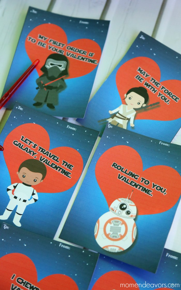 Cute Star Wars Force Awakens Valentines