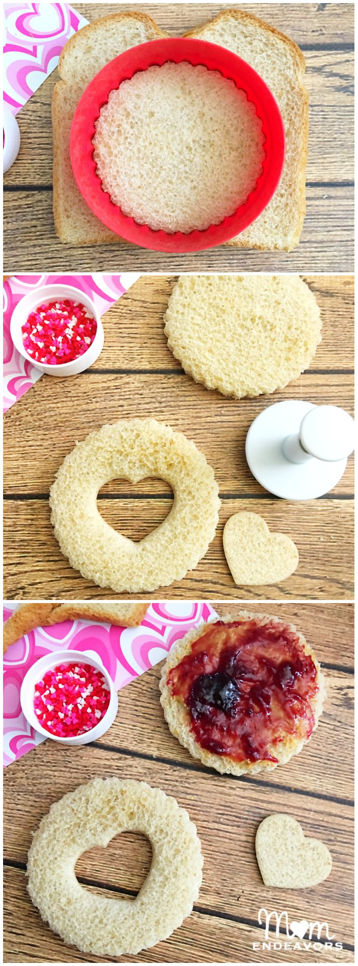 Easy Heart Sandwiches